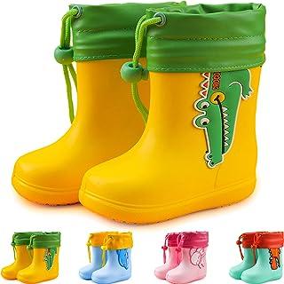 Stivali da Pioggia per Bambini Ragazze Ragazzi Impermeabile Antiscivolo Stivali da Gomma per Unisex Bambini