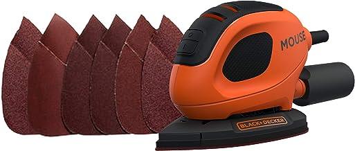 Black+Decker Driehoekige Slijper Mouse, BEW230-QS, 55 W, Schuurplaat 133 x 95 mm, Incl 6 Schuurpapier + 12 Reserveschuurpa...