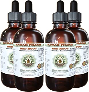 Red Root Alcohol-Free Liquid Extract, Red Root (Ceanothus Americanus) Dried Root Bark Glycerite 4x4 oz