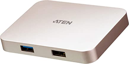ATEN - UH3235 USB-C 4K Ultra Mini Dock with Power Pass-Through - for TV/Monitor/Notebook/Desktop PC/Gaming Console/Smartphone/Tablet - 60 W - USB Type C - 4 x USB Ports - 1 x USB 2.0 - HDMI -