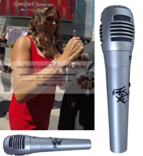 Stephanie McMahon Helmsley WWE Autographed Hand Signed Microphone with Exact Proof Photo of Steph Signing the Mic and Coa, WWF, Professional Wresting, World Wrestling Entertainment