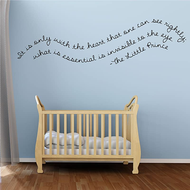 Nursery Wall Decal IT Is Only With The Heart The Little Prince Vinyl Wall Decor For Baby S Room Bedroom Or Play Room