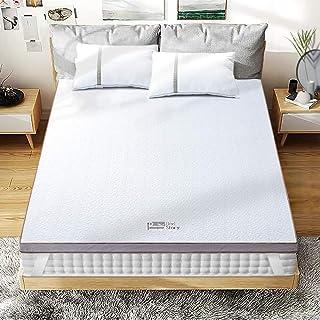 BedStory [Nouvelle Technologie] Surmatelas 160 x 200 à Mémoire de Forme de 7.5cm, Surmatelas de Haute Densité avec Gel Plu...