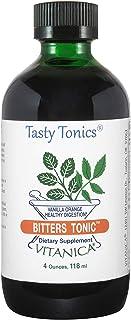 Vitanica Bitters Tonic, Liquid Digestion Supplement, Digestion Support, Alcohol Free, Vanilla Orange, Vegan, 4 Ounce