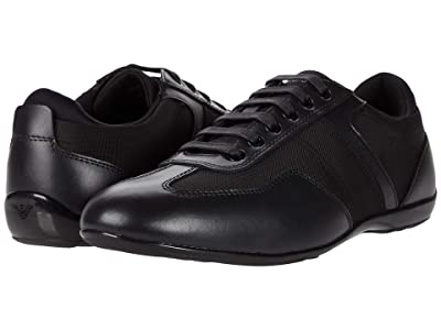 Emporio Armani Low Top Sneaker (Black) Men