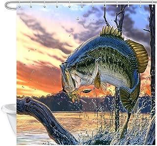 Best bass fishing shower curtain Reviews