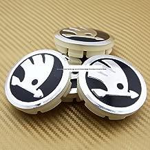 yongyong218 4 x 60 mm Skoda Wheel Center Caps Logo Emblem Badge Bucket Caps Edge Octavia