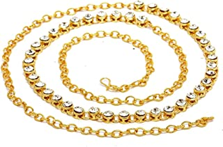 Town Of Trinkets Single line Gold Bikini Belly Body Waist Link Chain