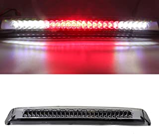 For 2004-2015 Nissan Titan, 2005-2016 Nissan Frontier LED Third 3rd Brake Cargo Light Assembly, Rear Roof Center High Mount Stop Tail Light Replacement (Chrome Housing Clear Lens)