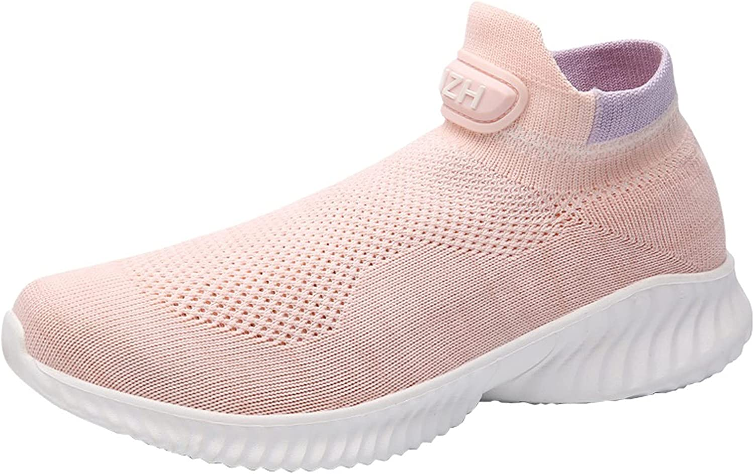 DKBL Unisex Sneaker Women Slip on Sneakers Breathable Cushioning Running Shoes Lightweight Sports Shoes Outdoor Walking Shoes Fashion Mesh Casual Road Running Shoes