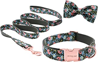 ARING PET Dog Collar, Cotton & Webbing, Adjustable Dog Collar with Bowtie, Puppy Collars or leashes for Small Medium Large Dogs