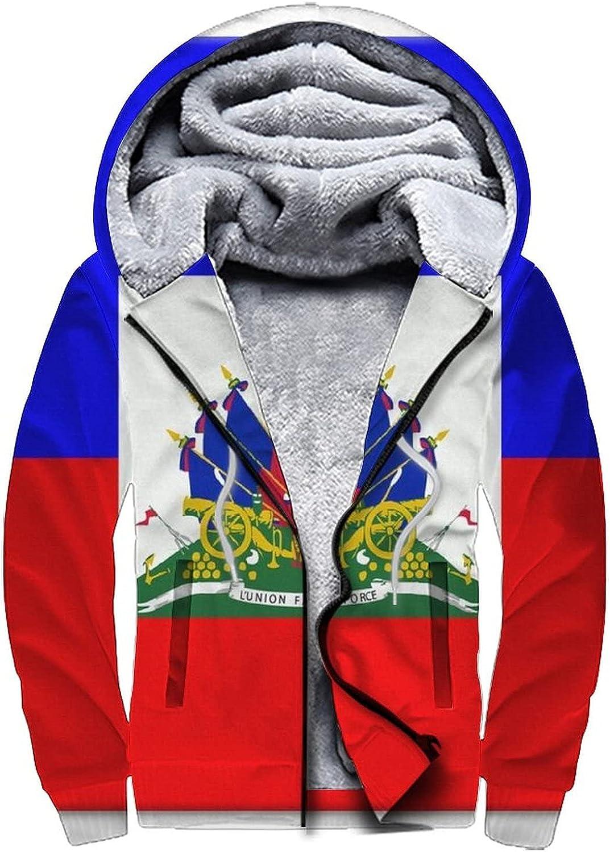 Men's Zip Up Hoodie Heavyweight Winter Sweatshirt Fleece Sherpa Lined Warm Jacket for Men Women S-3XL
