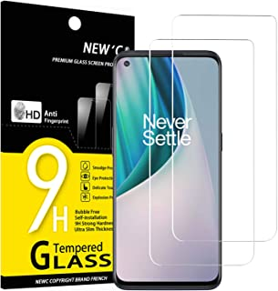 NEW'C 2-Stuks, ScreenProtector voor OnePlus Nord N10 5G, Gehard Glass Schermbeschermer Film 0.33 mm ultra transparant, ult...
