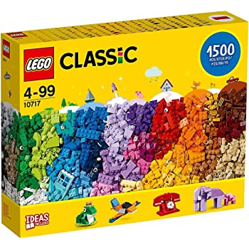 LEGO Classic 10717 Bricks Bricks Bricks 1500 Piece Set - Encourages Creativity in all Ages - Ideal for Creators of all Ages - Brick Separator Included