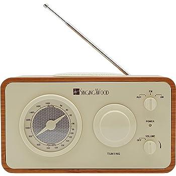 Walnut /& Burl Crosley CR31-WA Companion Retro AM//FM Radio with 1 Full-Range Speaker