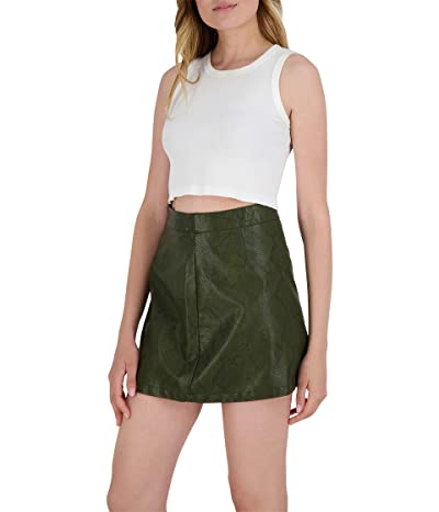 BB Dakota x Steve Madden Snake A Leg Skirt (Army Green) Women