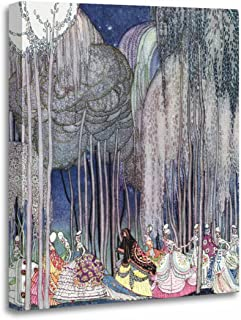 TORASS Canvas Wall Art Print Prints on The Way to by Kay Nielsen Twelve Artwork for Home Decor 12