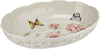 Lenox 6084024 Butterfly Meadow Scalloped Oval Baker