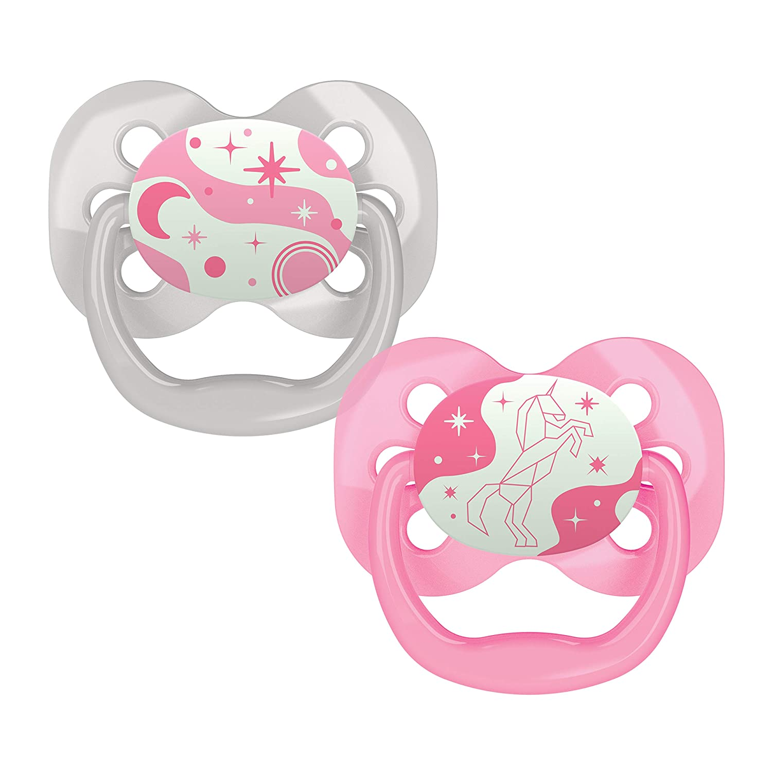 Dr. Low price Brown's Rapid rise Advantage Baby 0-6 Glow-in-The-Dark Mont Pacifiers