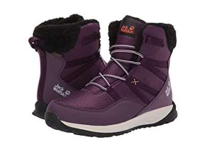 Jack Wolfskin Kids Polar Wolf Texapore High (Toddler/Little Kid/Big Kid) (Purple/Off-White) Girls Shoes