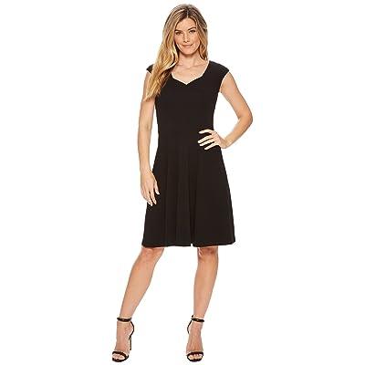 Calvin Klein Cap Sleeve A-Line Dress CD8C15JL (Black) Women