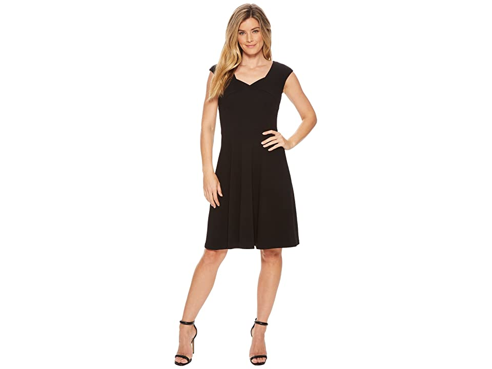 Calvin Klein Cap Sleeve A-Line Dress CD8C15JL (Black) Women
