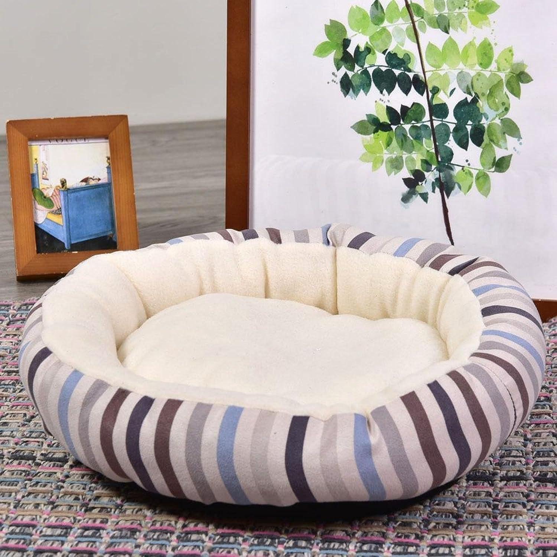 Dixinla Pet Bed Cashmere Round Dog nest Winter Thickened pet Litter Dog Bed cat Litter mat 38  38  10cm