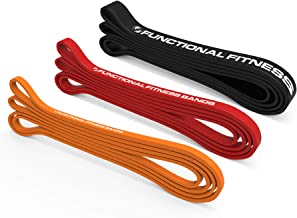 Rubberbanditz Pull Up Assist Bands Set of 3 by Functional Fitness. Heavy Duty Resistance and Assistance Training Bands