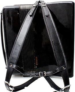 MUSIC FIRST? ブラックカラー革快適なパッド入りアコーディオンベルト96ベース120ベース アコーディオン用ショルダーストラップ アコーディオン用ストラップ ストラップセット