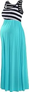 Sugar Pocket Women's Maternity Sleeveless Contrast Tank Dress