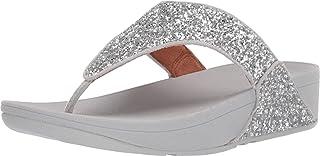 Fitflop Lulu Glitter Toe-Thongs, Sandales Bout ouvert Femme