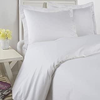 Westbury Manor 1000 Thread Count 100% Egyptian Quality Cotton 3PC Duvet Set, King White