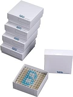 Biologix 90-1281 Cardboard Microcentrifuge Tube Freezer Storage Box, 2