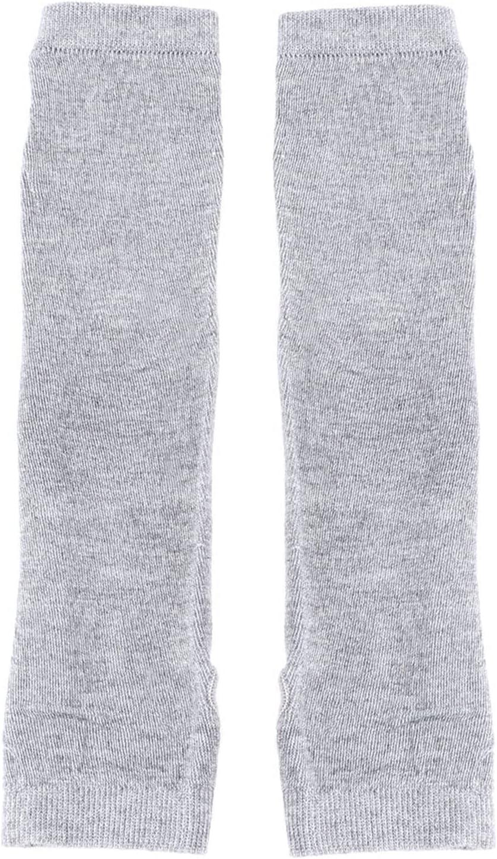 YSJJSQZ Winter Gloves 1 Pair Knitted Long Fingerless Mittens Arm Autumn Winter Warmer Stretchy Mitten Unisex Crochet Half Finger Long Gloves (Color : Light Gray)