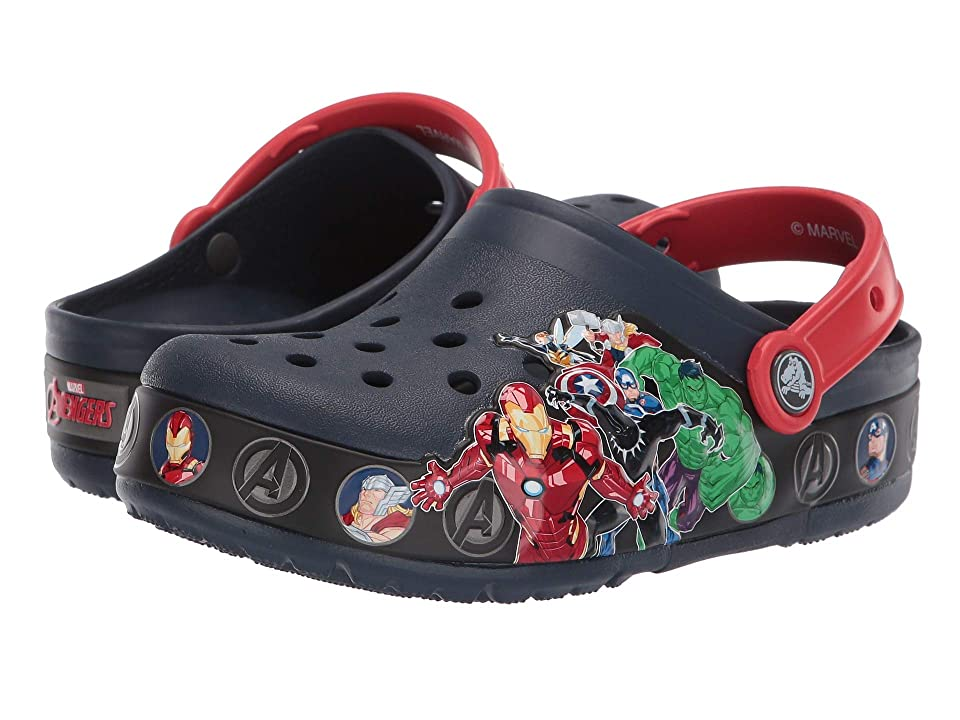 Crocs Kids CrocsFunLab Marvel Band Light Clog (Toddler/Little Kid) (Navy) Boys Shoes
