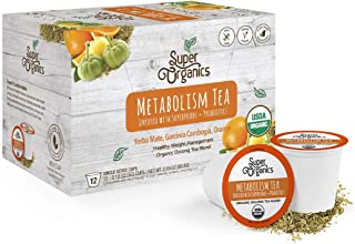 Super Organics Metabolism Oolong Tea Pods With Superfoods & Probiotics | Keurig K-Cup Compatible | Weight & Metabolism, Sl...