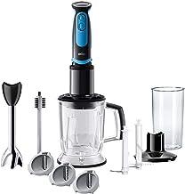 Braun MultiQuick 5 Vario Fit, Hand Blender with Spiralizer and Food Processor, MQ5064BKBL, Black & Blue