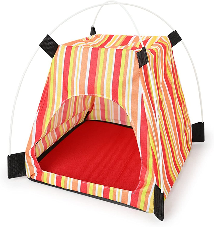 Pet Tent Dog Cat Waterproof Detachable Folding Outdoor Travel Supplies(Red)