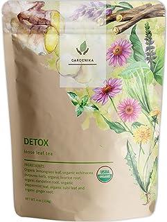 Sponsored Ad - Gardenika Organic Loose Leaf Herbal Tea, Caffeine Free, Wellness and Immunity - 4 oz (Detox)