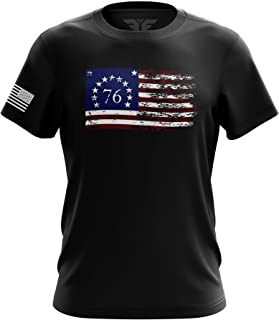 1776 Don`t Tread on Me American Flag Military Army Mens T-Shirt Printed & Packaged in The USA