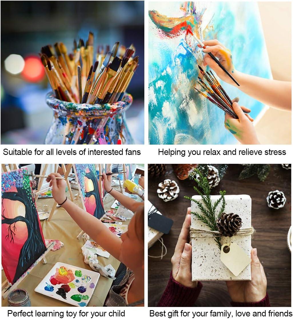 pour la D/écoration Int/érieure Maison avec Cadre Bougimal Peinture par Num/éro Adulte avec Pinceaux et Acryliques Bricolage Peintures Kits pour Adultes Enfants Seniors D/ébutant 40x50cm
