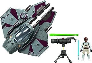 Star Wars Mission Fleet Stellar Class Obi-Wan Kenobi Jedi Starfighter Starfighter Run 2.5-Inch-Scale Figure and Vehicle, T...
