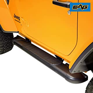 """EAG LED Running Boards 5/""""+Brackets Fit for 04-15 Chevy Silverado 1500 Crew Cab"""