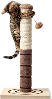 4 Paws Stuff Tall Cat Scratching Post Cat Interactive Toys - Cat Scratch Post Cats Kittens - Plush Sisal Scratch Pole Cat ...