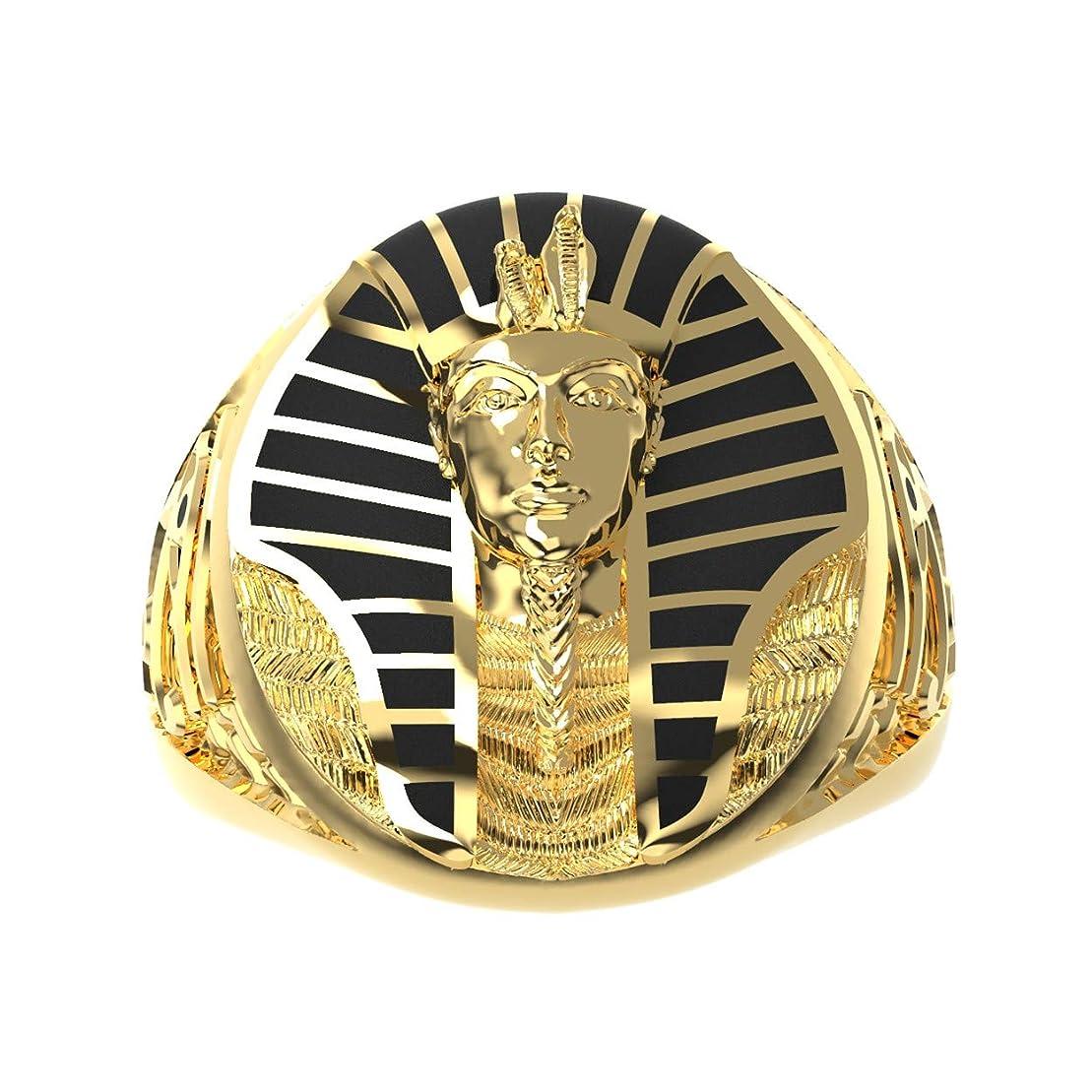 オートメーションフランクワースリーどちらもeejart ステンレススチール ゴールデン ビンテージ スフィンクス ジュエリー エジプト ファラオ リング ビンテージ パンクバイカー メンズジュエリー ゴールド