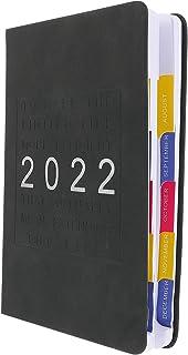 دفتر ملاحظات مخططة 2022 من تويفيان وكتابة مذكرات ورقية للطلاب المكتبية واللوازم المدرسية المكتبية (أسود)