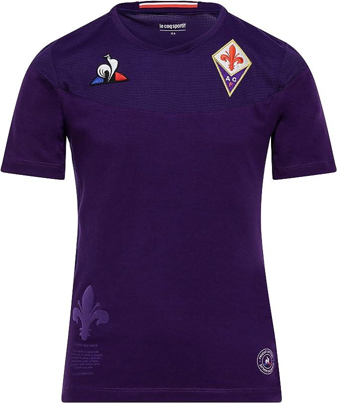 Le Coq Sportif Fiorentina Maillot Replica Dom SS Enfant Maglietta Donna
