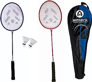 Bipan's Badminton Practice Set with 2 Badminton Rackets (Aluminium) and 2 Shuttlecocks