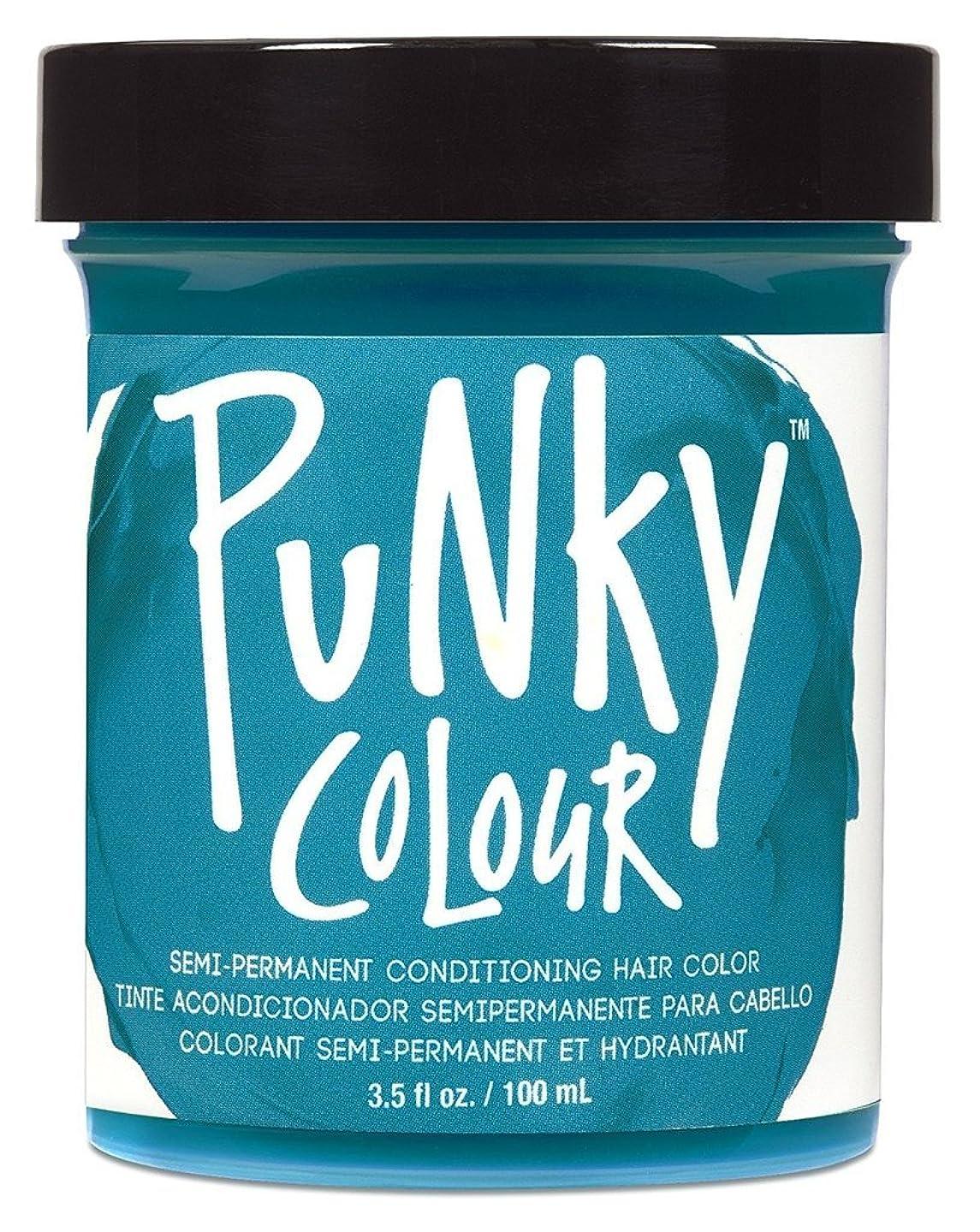 霜有害鮮やかなJEROME RUSSELL Punky Color Semi-Permanent Conditioning Hair Color - Turquoise (並行輸入品)