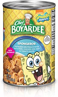 Chef Boyardee SpongeBob Pasta and Meatballs Made with Pork, Chicken, and Beef in Tomato Sauce, 15 Ounce